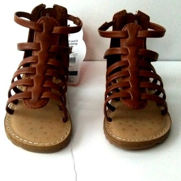 Stars Hitop Brown Sandals Girl Size 5